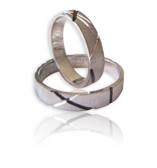 Engraved Flat shank Wedding ring