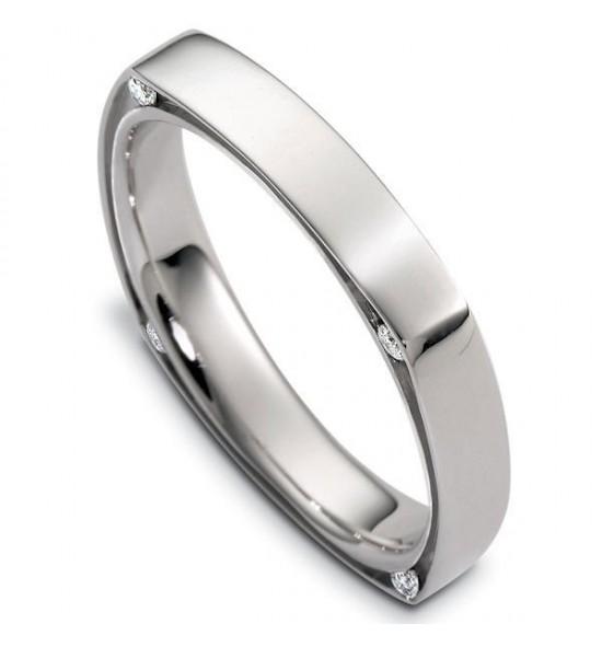 Square shank Wedding ring