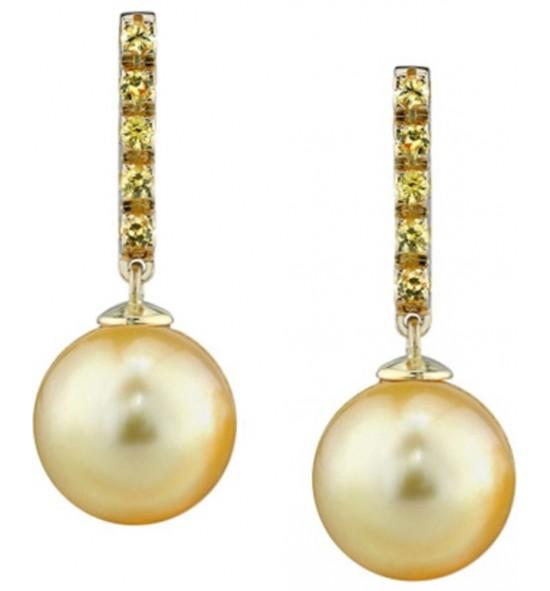 Pendientes zafiros y perla